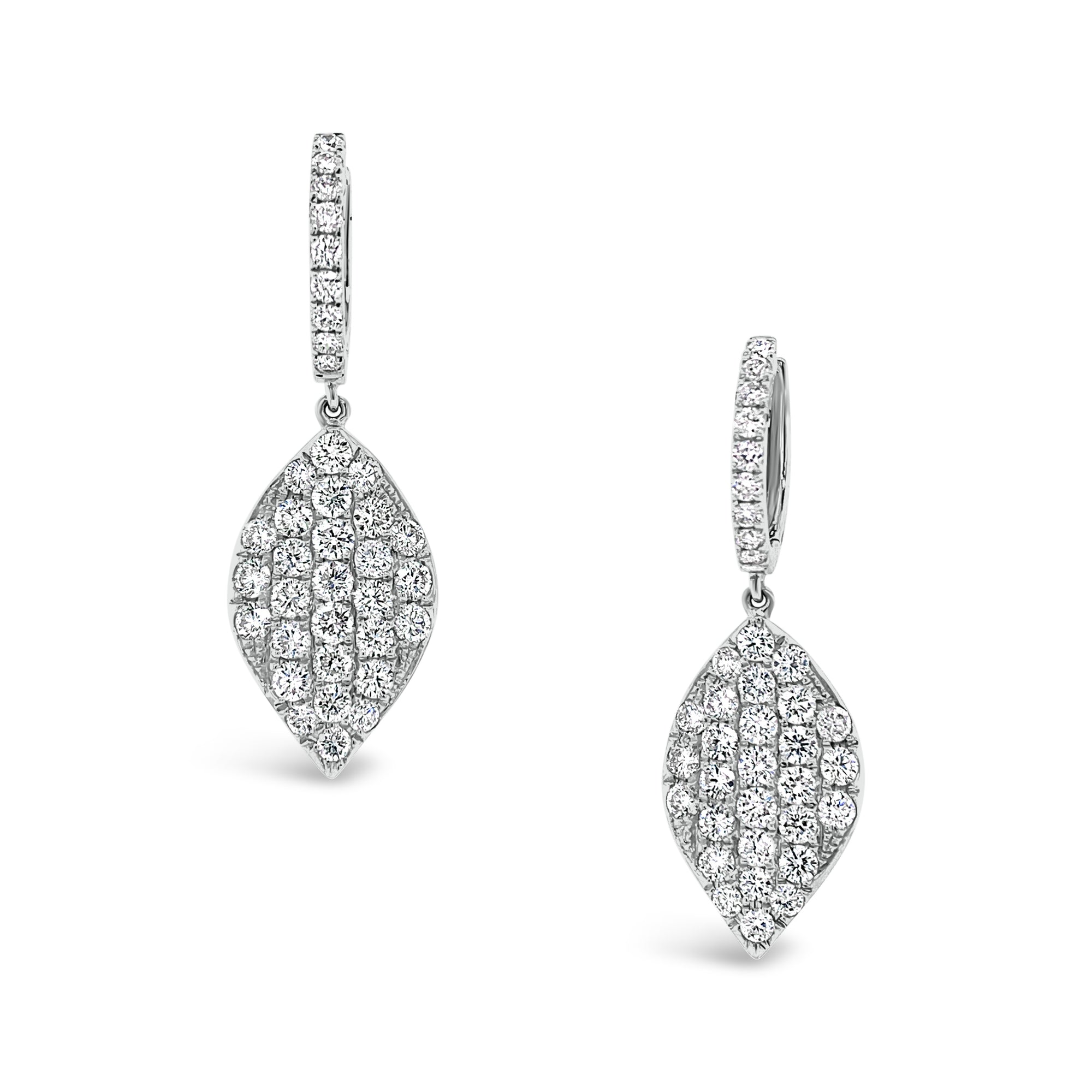 Diamond Simple Dangle Earrings