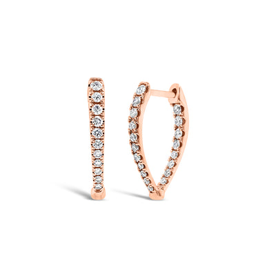 Diamond Interior & Exterior Huggie Earrings