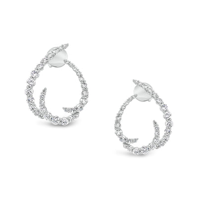 Diamond Open Swoop Earrings