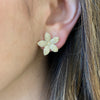 Pave Diamond Flower Stud Earrings