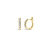 Diamond Small Classic Huggie Earrings