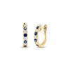 Sapphire & Diamond Hoop Earrings
