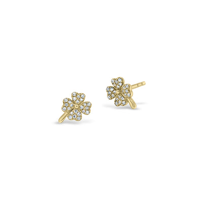 Diamond Shamrock Stud Earrings