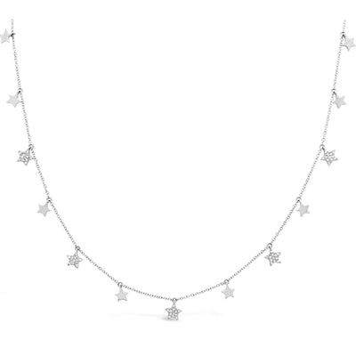 Diamond Twinkle Star Necklace