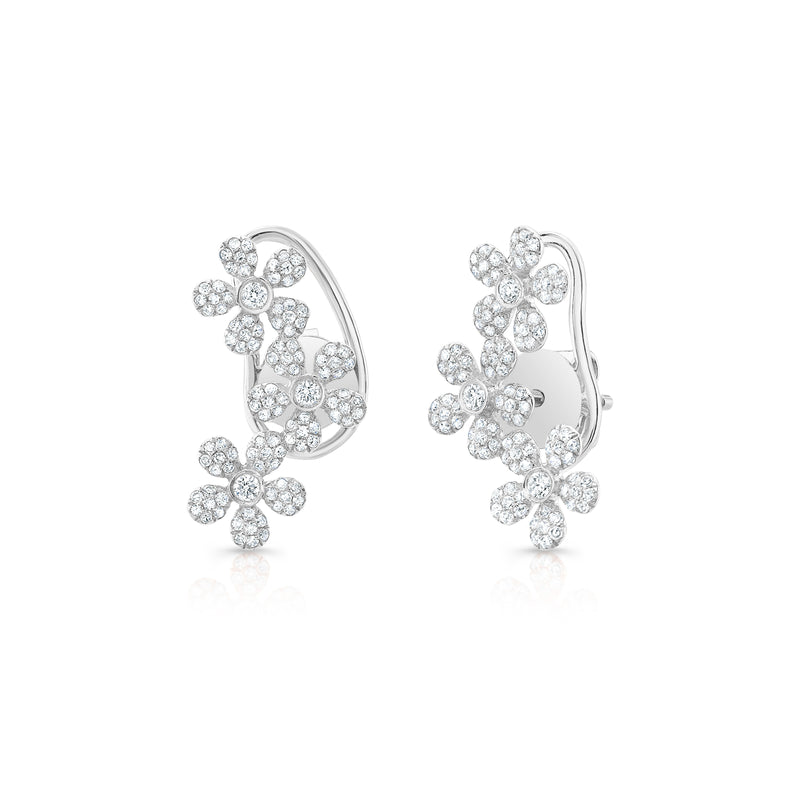 Diamond Daisy Crawler Earrings