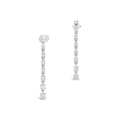 Diamond Linear Dangle Earrings