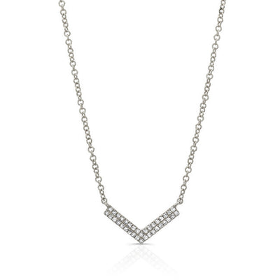 Diamond V-Pendant