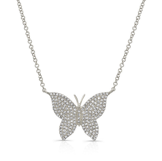 Full Diamond Butterfly Necklace