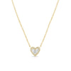 Diamond Baguette Heart Pendant Necklace
