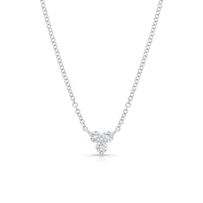 Diamond Three-Stone Necklace
