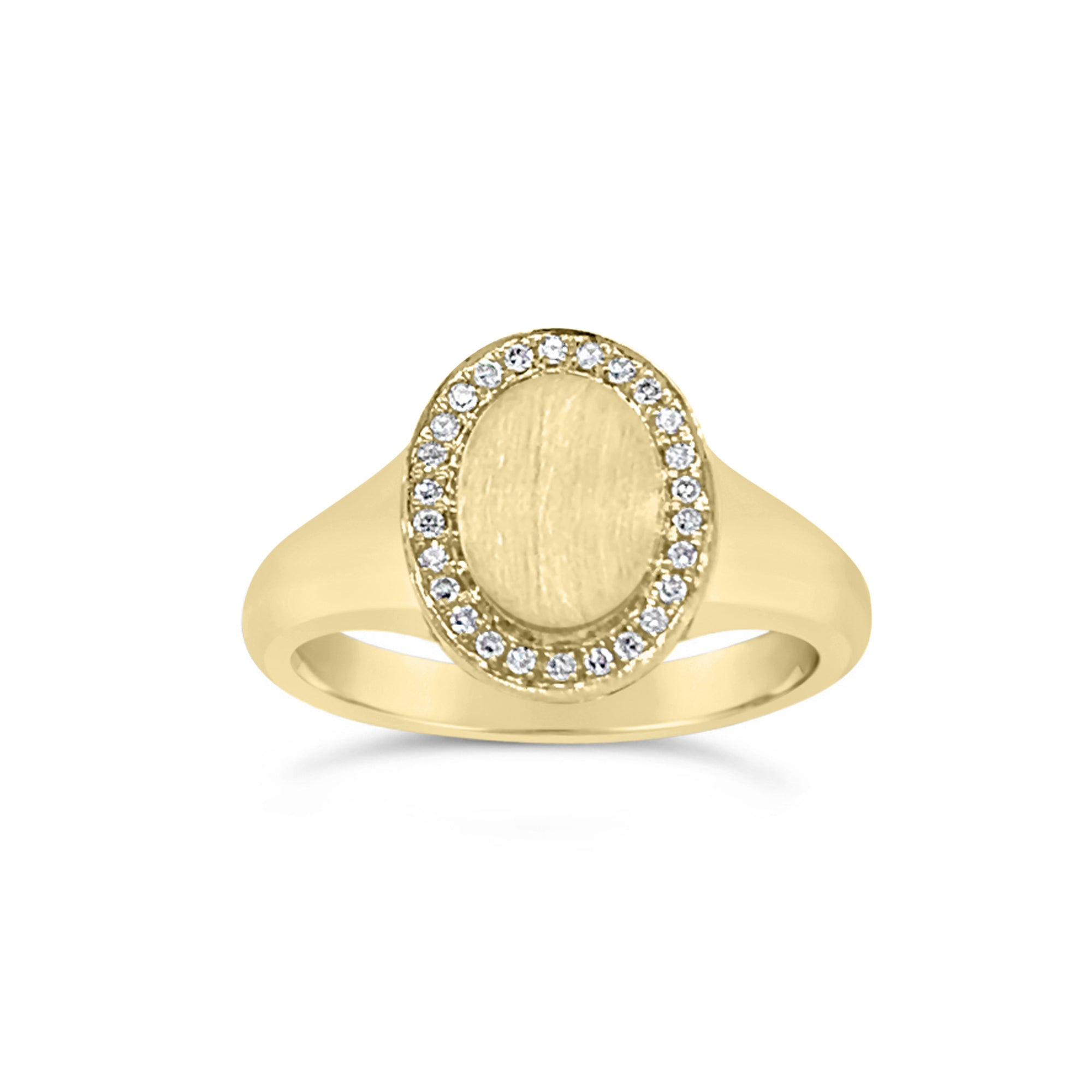 Diamond & Gold Signet Ring