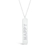 Diamond 'Happy' Bar Pendant
