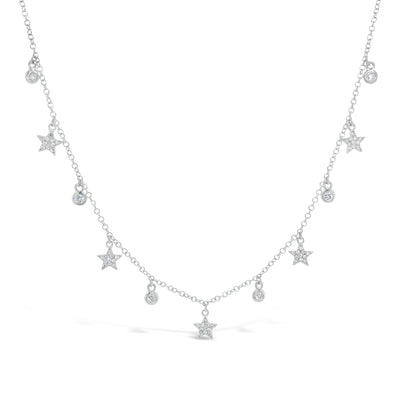 Diamond Star Drip Necklace