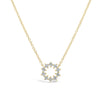 Diamond Small Sunburst Necklace