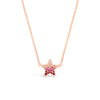 Gradient Gemstone & Diamond Star Necklace