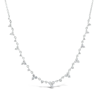 Delicate Diamond Cluster Necklace