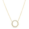 Bezel-Set Diamond Open Circle Pendant Necklace