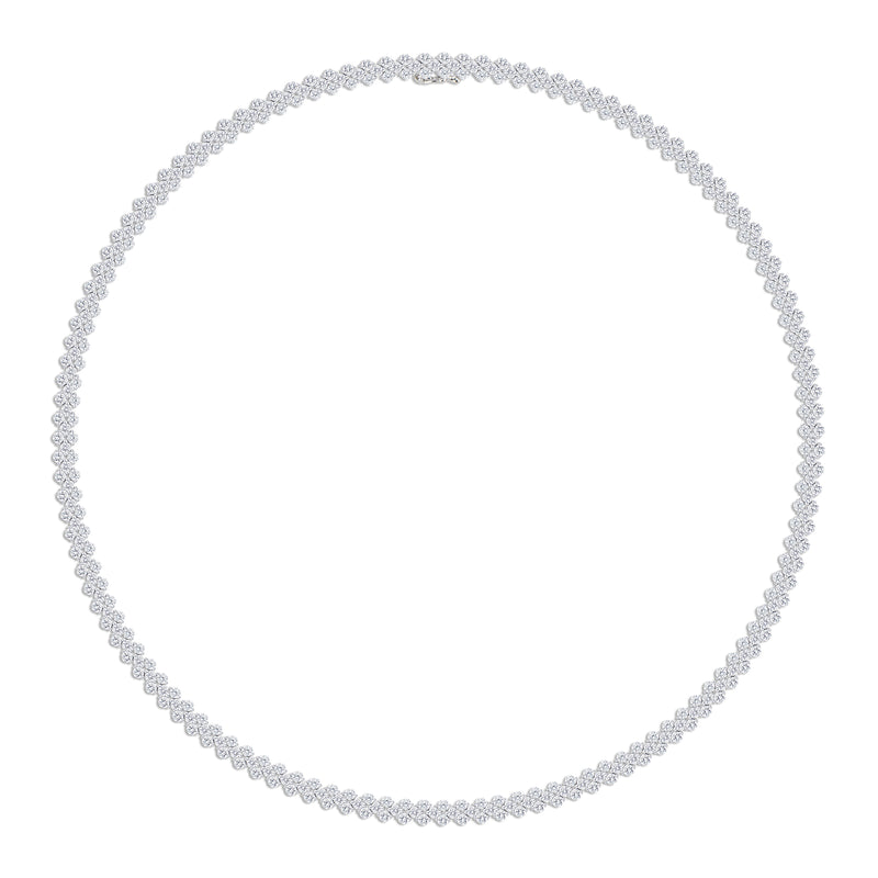 12.84 ct Diamond Tennis Necklace