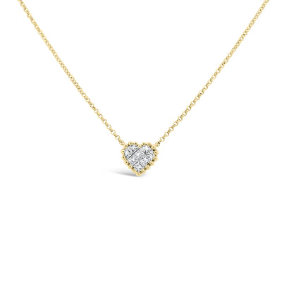 Diamond Tiny Heart Necklace