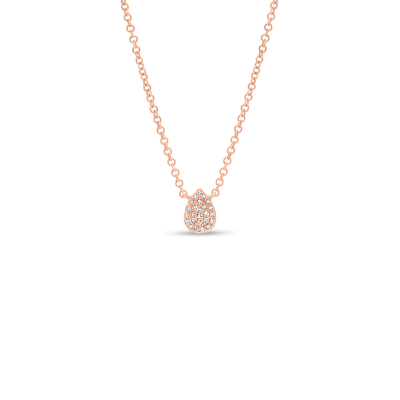 Pave Diamond Teardrop Pendant