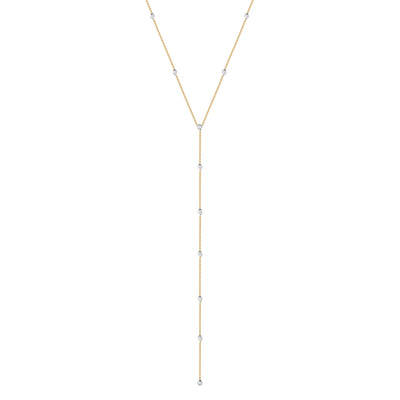 Lariat Diamond Station Necklace