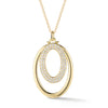 Diamond & Gold Oval Pendant Necklace