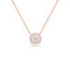 Diamond Double Halo Pendant Necklace