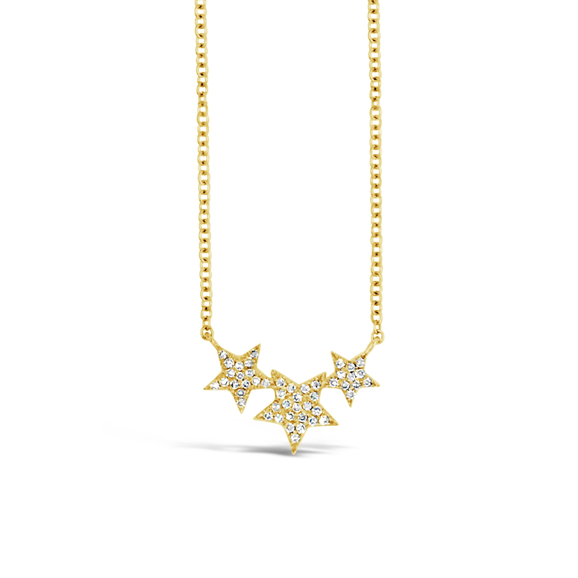 Diamond Triple-Star Necklace