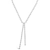 Bezel-Set Diamond Double Lariat Necklace