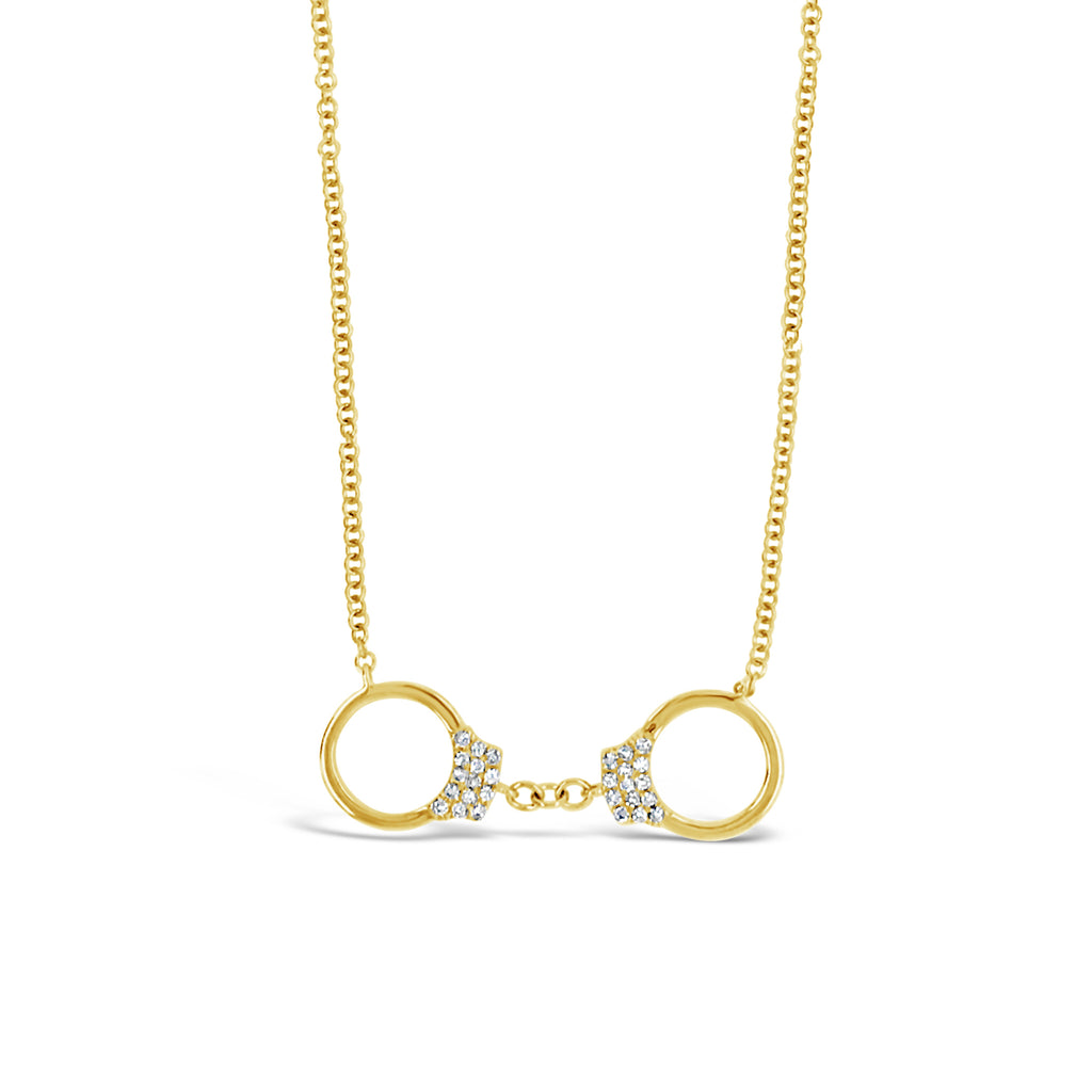 Diamond Handcuffs Necklace