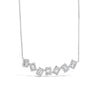 Diamond Baguette Staggered Bar Necklace