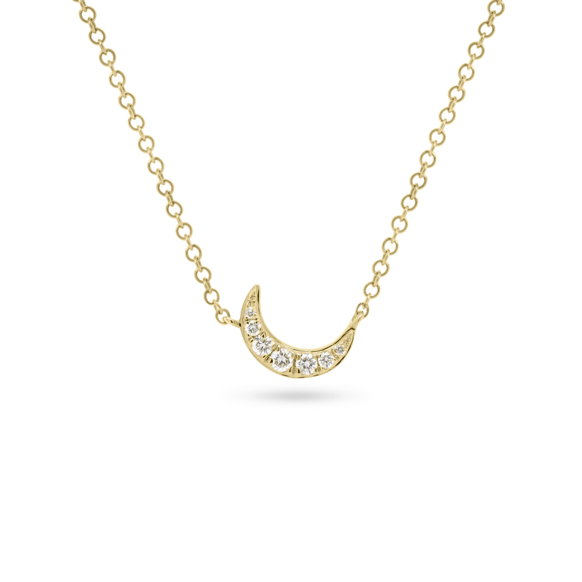Petite Diamond Crescent Moon Necklace