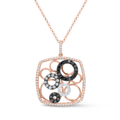 Black Diamond Circles Pendant