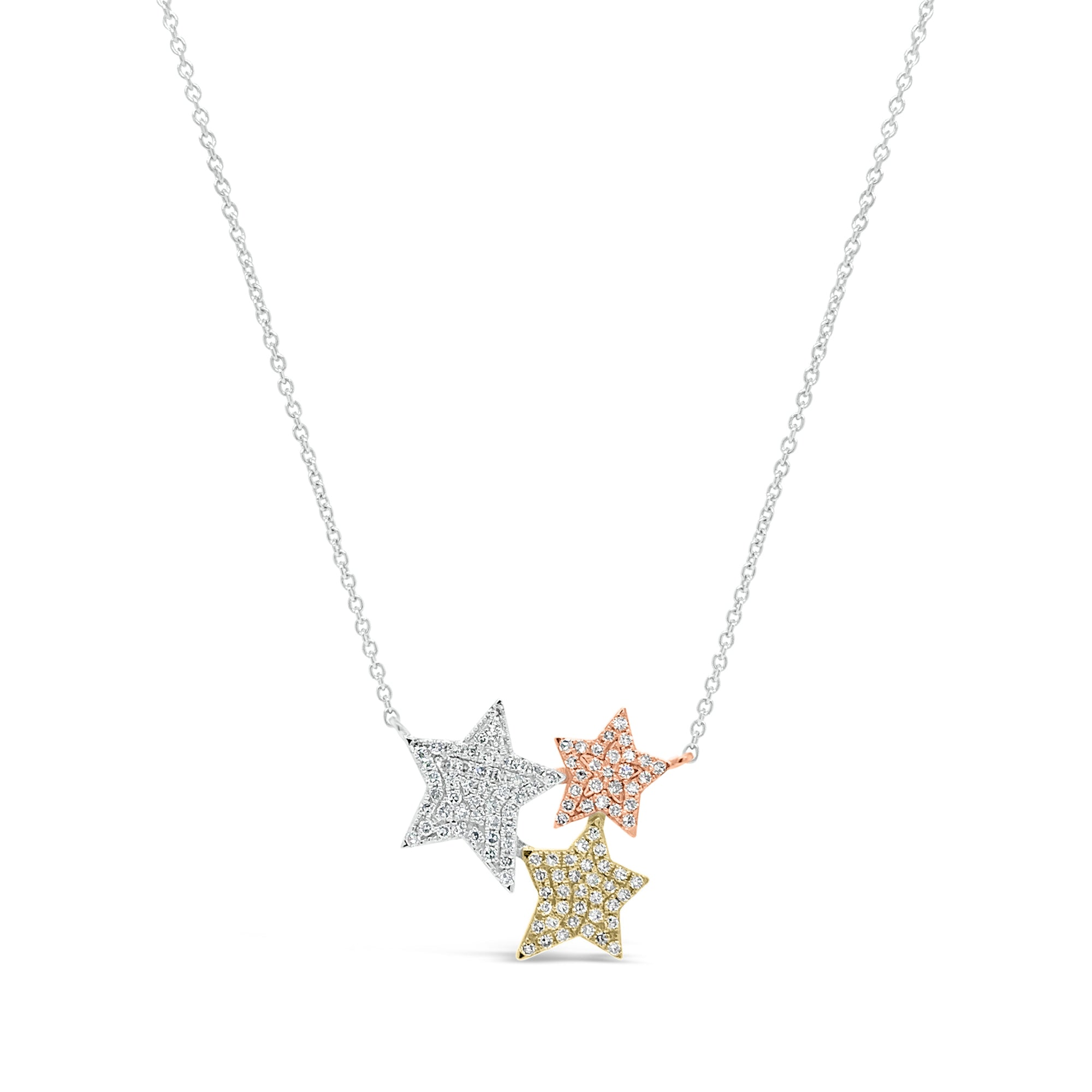 Diamond Star Trio Necklace