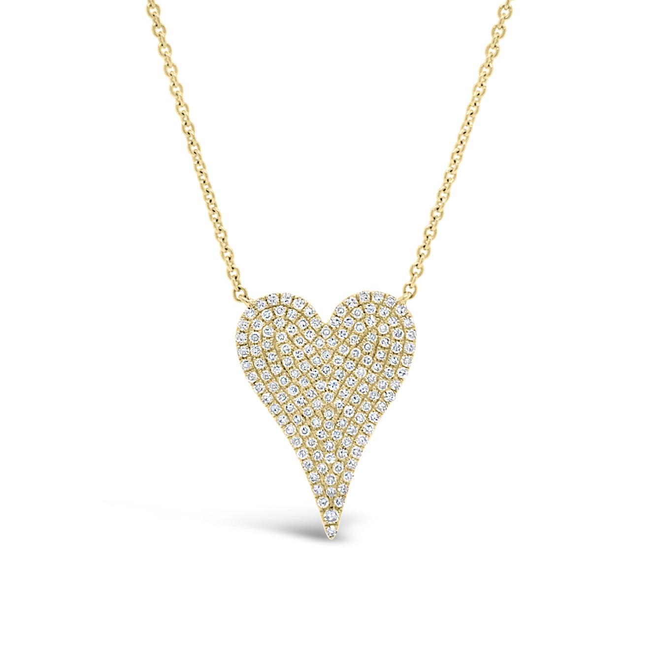 Diamond Medium Elongated Heart Pendant Necklace