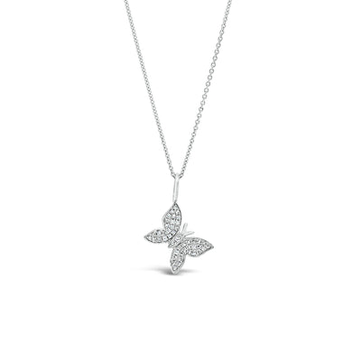 Pave Diamond Butterfly Pendant
