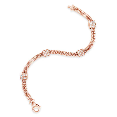 Diamond Square Station Bracelet