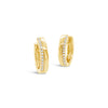 Half & Half Diamond & Gold Huggie Earrings
