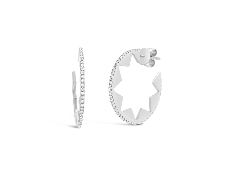 Diamond Star Cut-out Cocktail Earrings