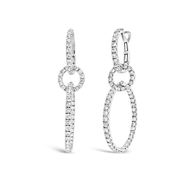 Diamond Dangle Cocktail Earrings