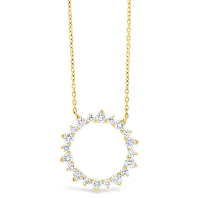 Diamond Sunburst Outline Necklace