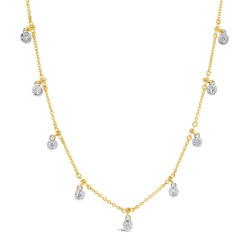 Diamond by the Yard Drip Necklace