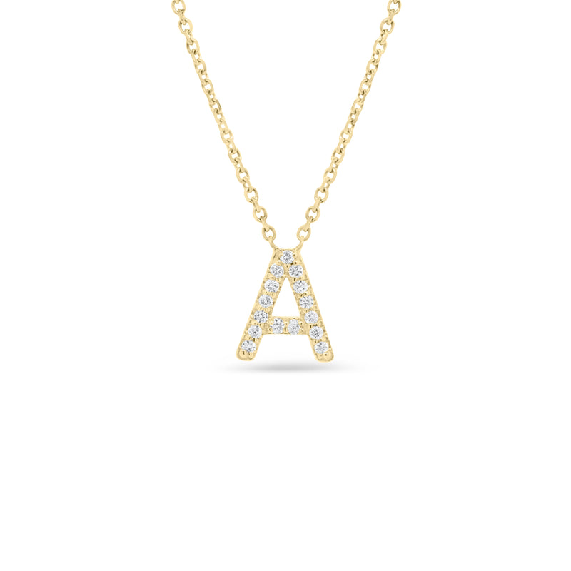 Diamond Uppercase Initial Pendant