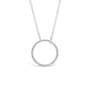 Diamond Open Circle Pendant