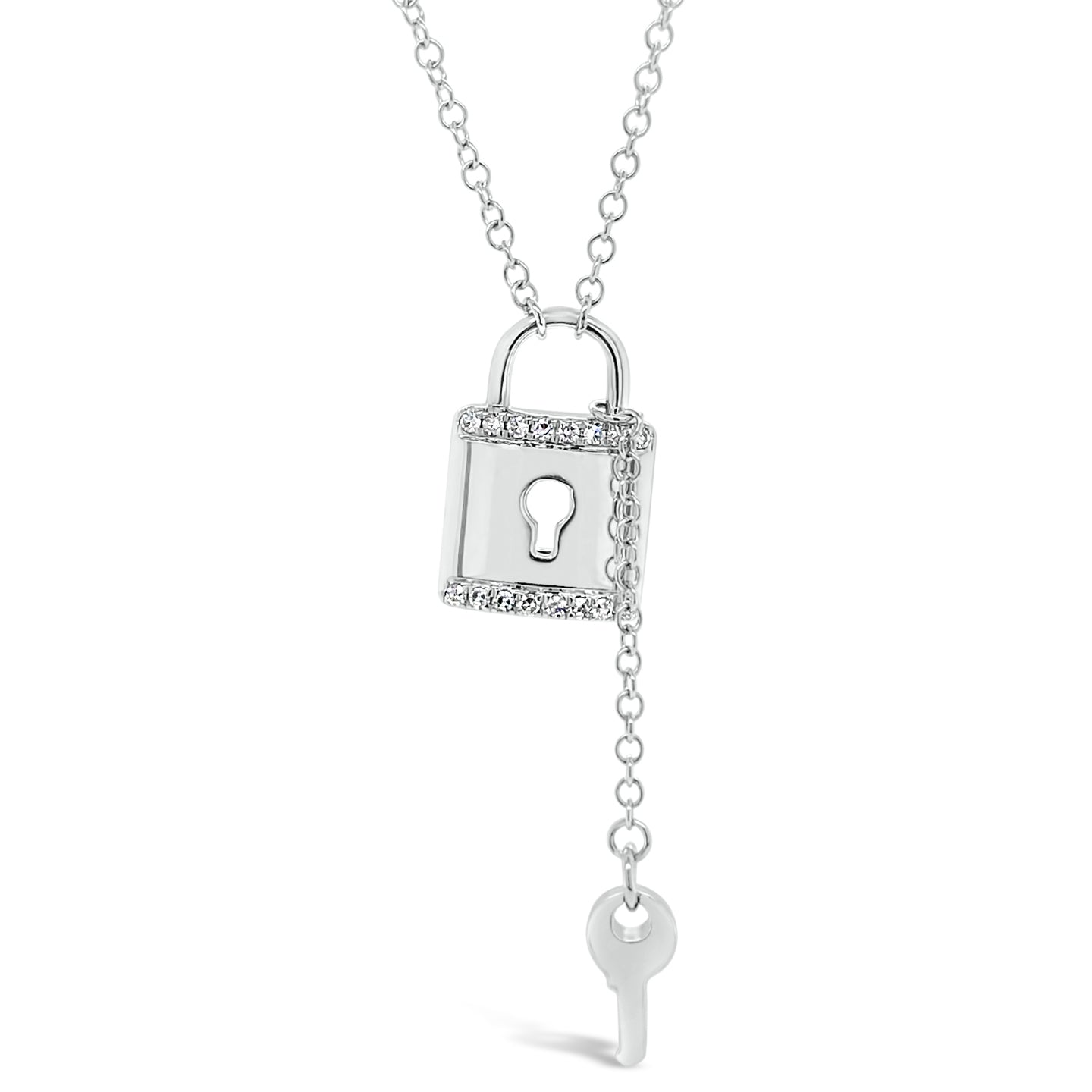Diamond Lock & Key Pendant