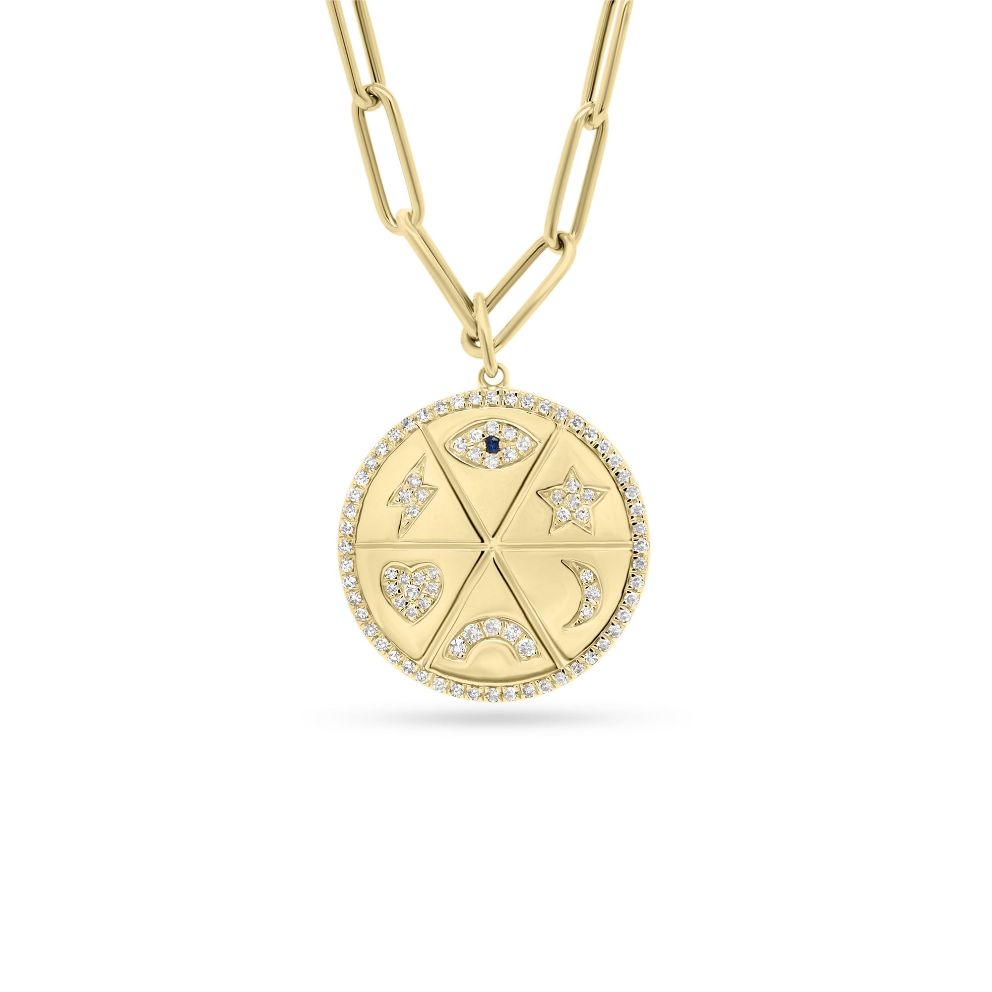 Diamond Good Vibes Medallion Necklace