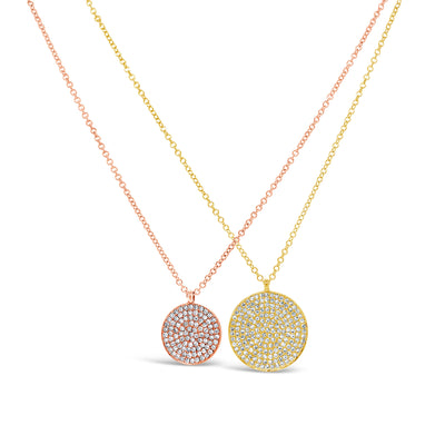 Large Diamond Disc Pendant