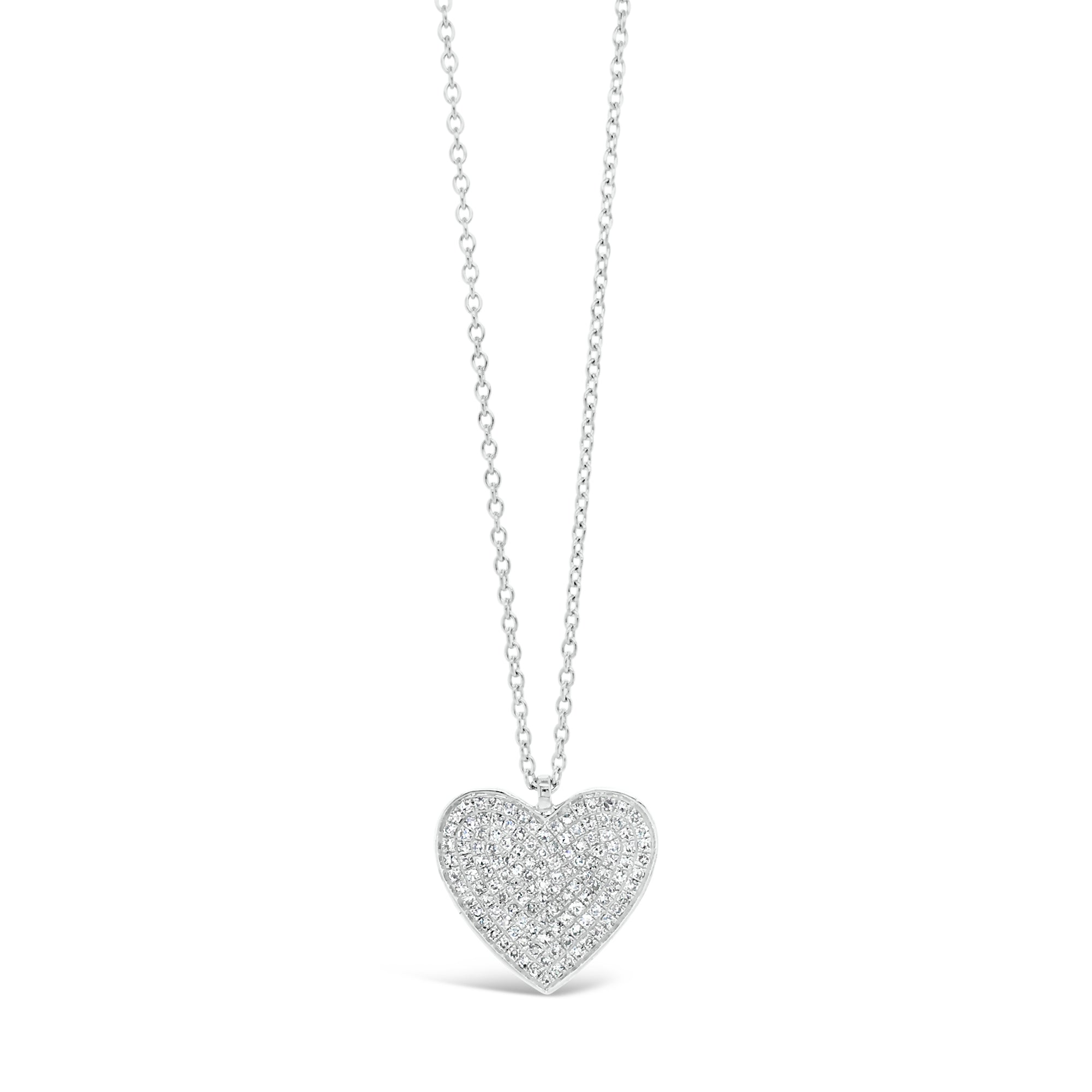 Diamond Classic Heart Pendant Necklace