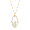 Diamond Hamsa Pendant Necklace