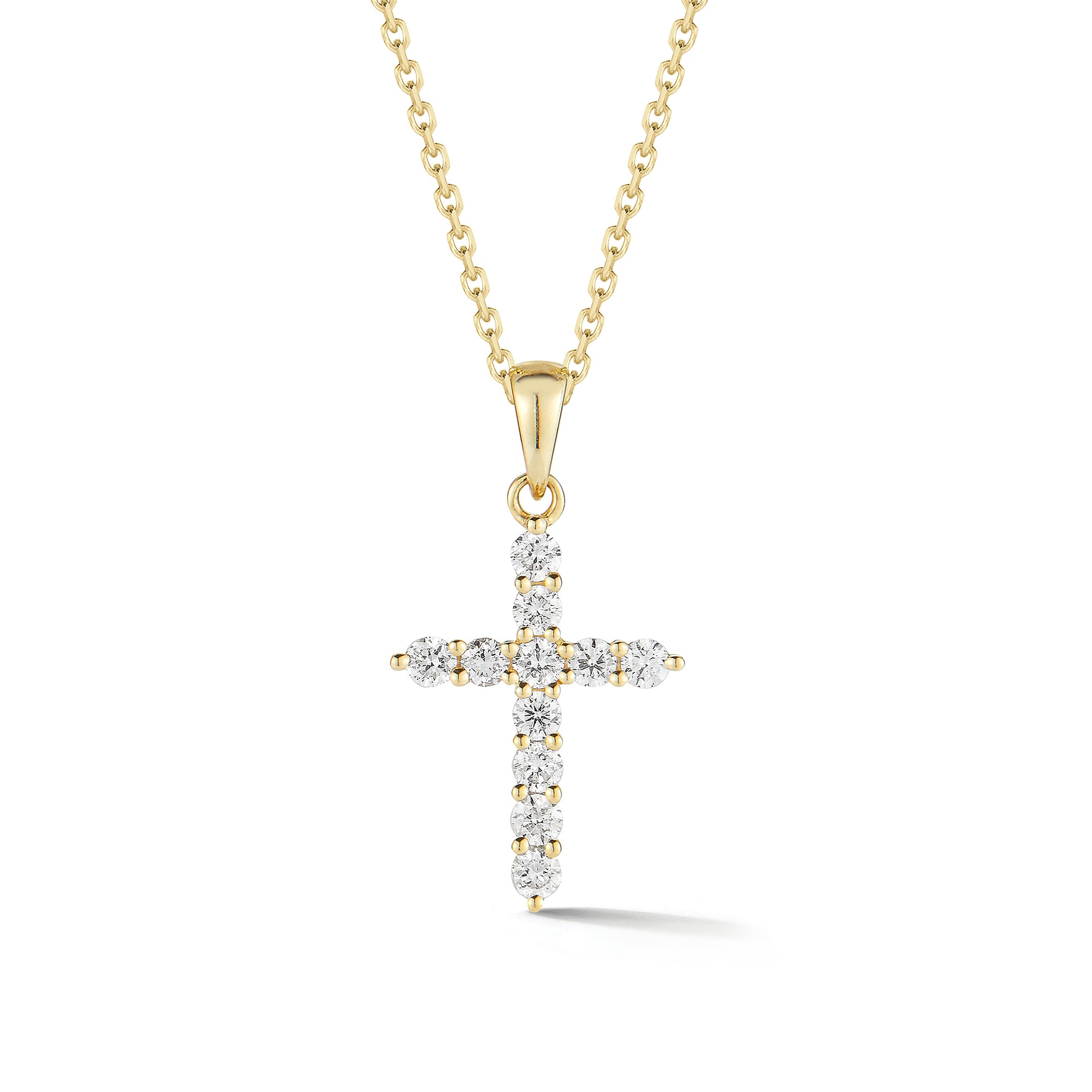 Diamond Slim Cross Pendant